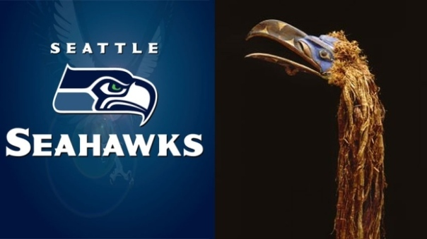 Nuxalk Seahawks mask