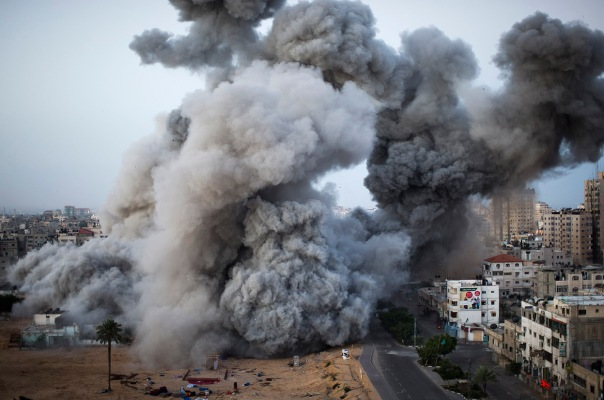 Israeli bombing of Gaza City, November 2012.