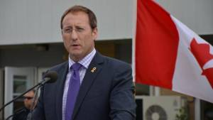 The Dishonourable Peter Mackay, federal Minister of Injustice, looking very concerned.