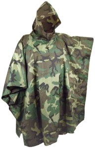 US military poncho, available in many surplus stores.