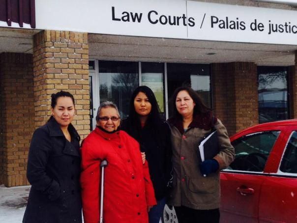 The four women charged by Buffalo Point First Nation chief for entering band office.