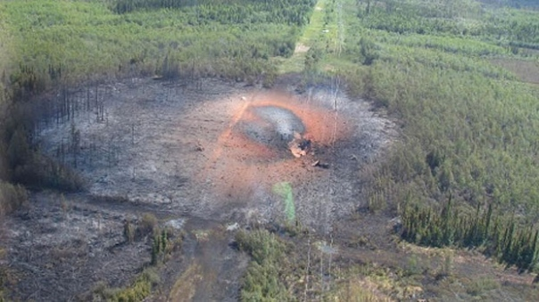 Aftermath of the explosion from a TransCanada pipeline rupture in 2011.