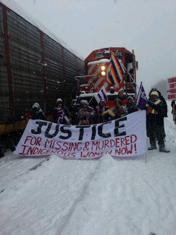 Missing Murdered women train blockade