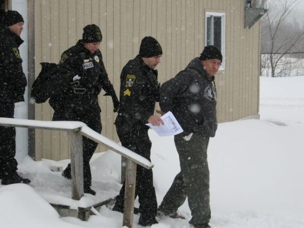 Stacey Boots arrested by Akwesasne Mohawk Police, March 22, 2014.