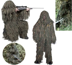 A Ghillie suit, often worn by police and military snipers, also obscures body heat.