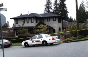 North Vancouver RCMP respond to shooting at mining executive's home, April 4, 2014.