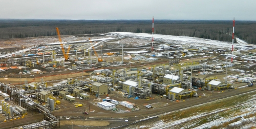 Enbridge fracking plant near Fort Nelson.