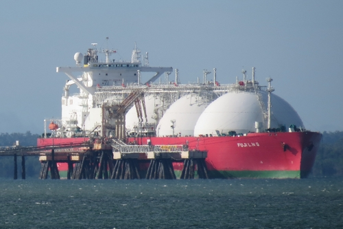 Liquid Natural Gas tanker ship.