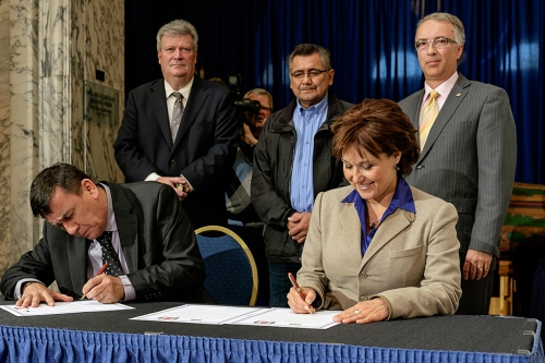 Two weeks ago, Lax Kw'alaams and Metlakatla First Nations inked LNG deals with Premier Christy Clark, Minister Rich Coleman and Minister John Rustad.