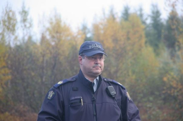 RCMP Sgt. Bernard, commander of the Tactical Troop deployed against Mi'kmaq on Oct 17, 2013.