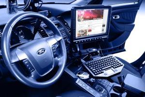 Cop car computer