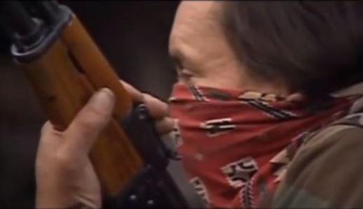 "Tom Paul, Mi'kmaq warrior code-named ""General"" with an AK-47."