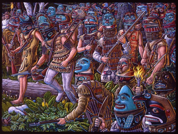 Tlingit warriors painting