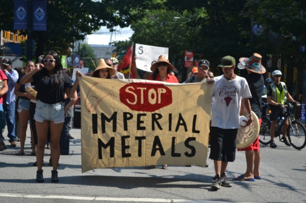 Rally in Vancouver on Aug 11, 2014, against Imperial Metals.