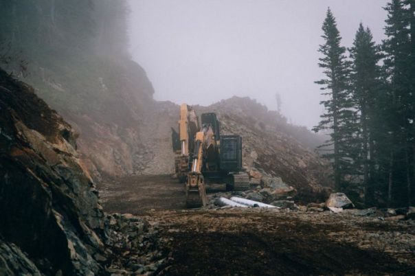 Construction of the Pacific Trails Pipeline.