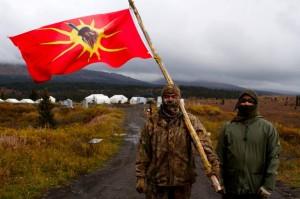 Tahltan Klabona Keepers during blockade of Fortune Minerals mine, 2013.