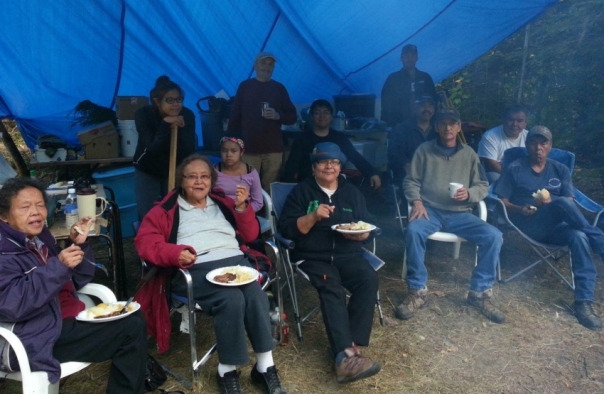 Participants at the Gitxsan Madii Lii camp.