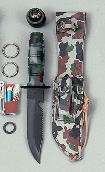 A cheap hollow handled survival knife, not a good option.