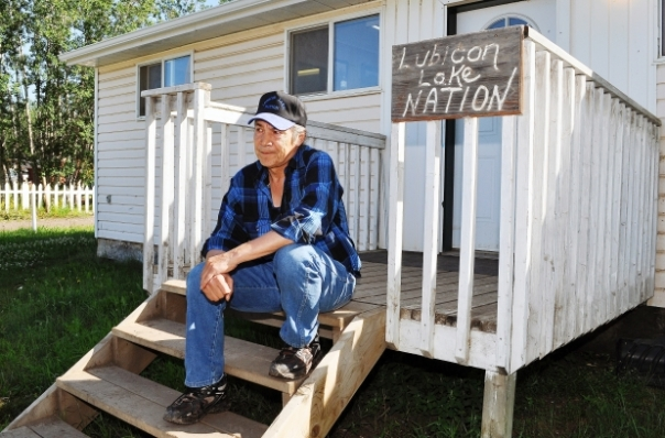 Former chief of the Lubicon Cree Bernard Ominayak.