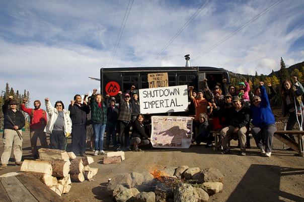 Tahltan blockade fire 2