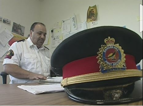 Band constable Gary Wass of Garden Hill FN, northern Manitoba.