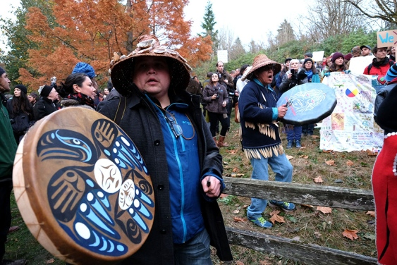 Kinder Morgan Burnaby Mountain drummers