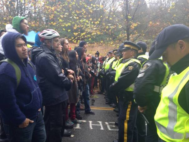 Kinder Morgan burnaby mountain standoff