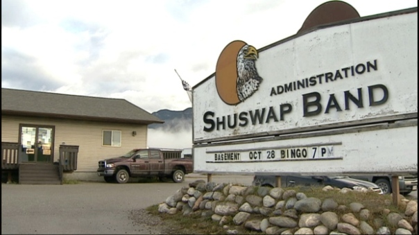 Shuswap First Nation band office.
