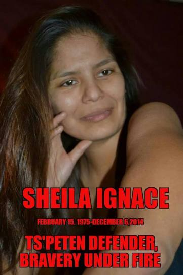 Sheila Ignace memorial poster