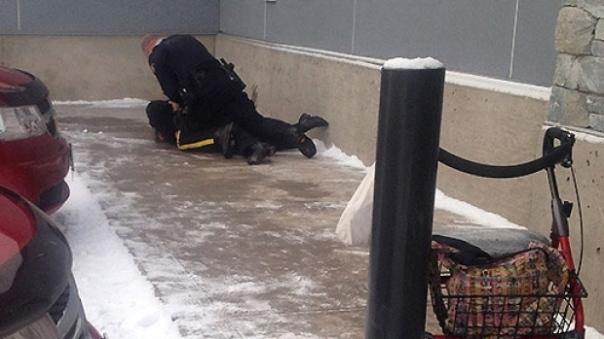 Wet'suwet'en elder Irene Joseph assaulted by Smithers RCMP officer.