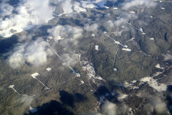 Fracking field in north eastern BC.   Photo: The Tyee.