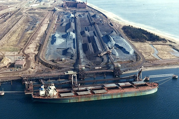 Iron Ore Co. of Canada's port facility in Sept-Îles, Quebec.   Photo: Mining.com.
