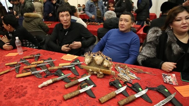 Annual knife and crafts fair in Yakutsia, 2014.