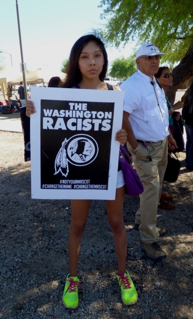 Thousands of Natives have protested against the racist name of the Washington Redskins over the last few years.