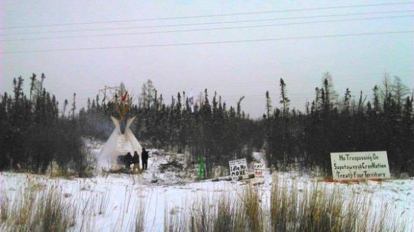 Sapotaweyak Cree blockade 1