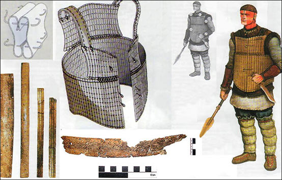 A reconstruction of what the bone-plate armour would have looked like. Credit: Siberian Times.