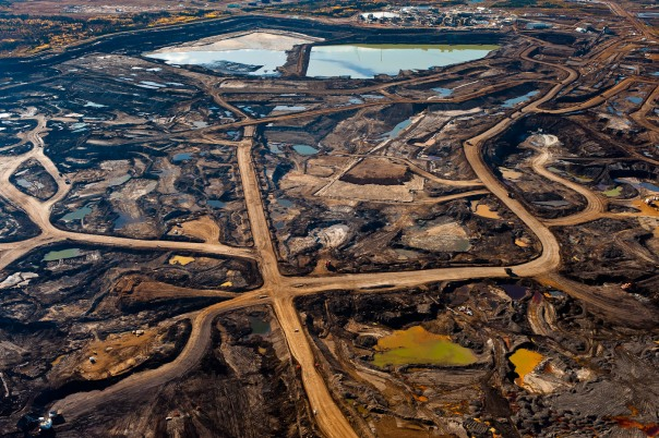 Tar Sands landscape in northern Alberta.