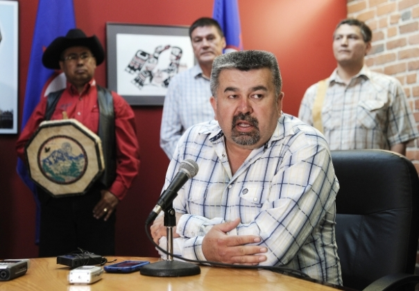 Tsilhqot'in First Nation chief Joe Alphonse says it should be illegal for the provincial government to extend the permit for a controversial mining project near Williams Lake without his band's permission. Photograph by: NICK PROCAYLO , PNG