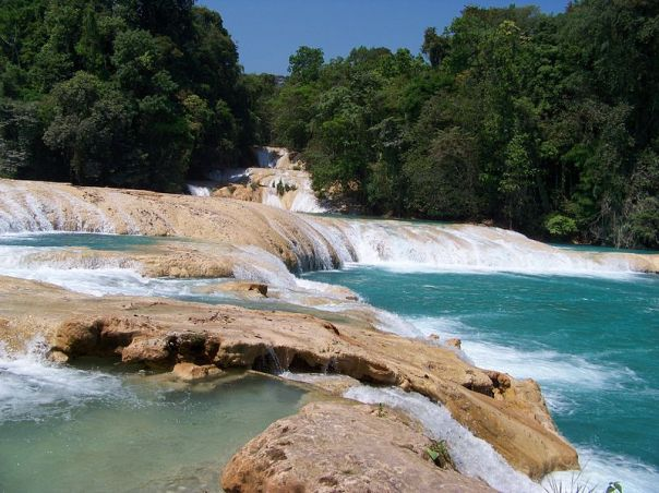 Aguas Azules (Blue Waters) waterfalls.