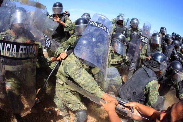 Confrontations with military police on Feb 6, 2015.