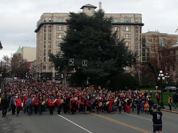 Women's Memorial March in Victoria, BC, Feb 14, 2015.