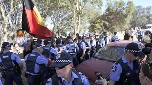 Australia eviction protest 3