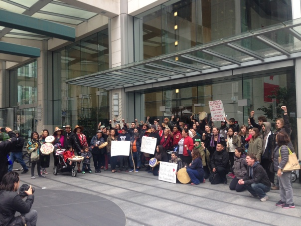 Outside the Vancouver DFO offices, March 30, 2015.