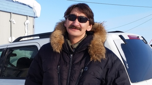 Jerry Natanine, the mayor of Clyde River, Nunavut, says seismic testing for oil deposits in nearby waters could kill marine mammals. (David Michael Lamb/CBC)