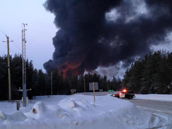 CN Railway train derailed near Gogoma, Ontario, March 7, 2015.