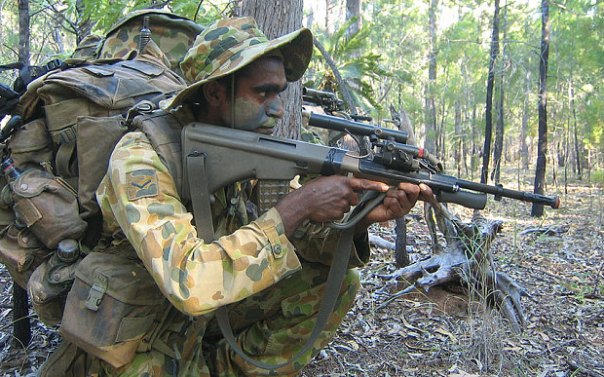 Aboriginal soldier in the Norforce.