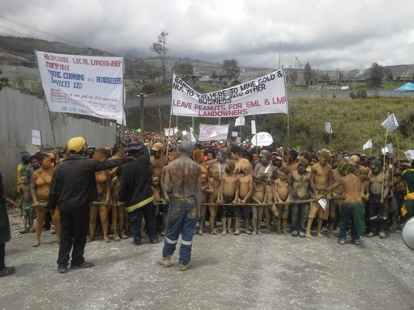 On October 28, 2014, hundreds of Porgerans marched onto Barrick Gold's Porgera mine site to demand benefits that rightfully belong to the Porgera Special Mining Lease (SML) Landowners.
