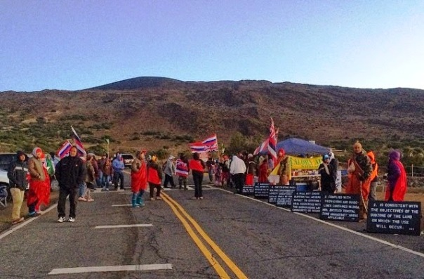 Hawaii telescope blockade 2