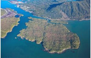 The site of the proposed Pacific Northwest LNG plant, Lelu Island, near Port Edward, Photograph by: www.lonniewishart.com , Vancouver Sun