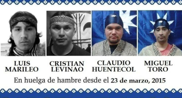 Mapuche hunger strikers 2015